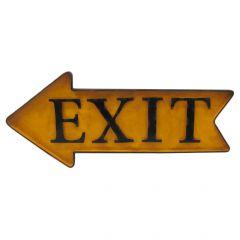 EXIT Arrow - yellow - left