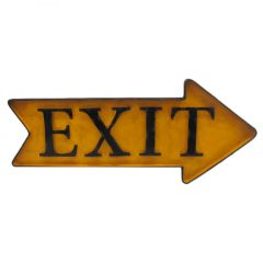 EXIT Arrow - yellow - right